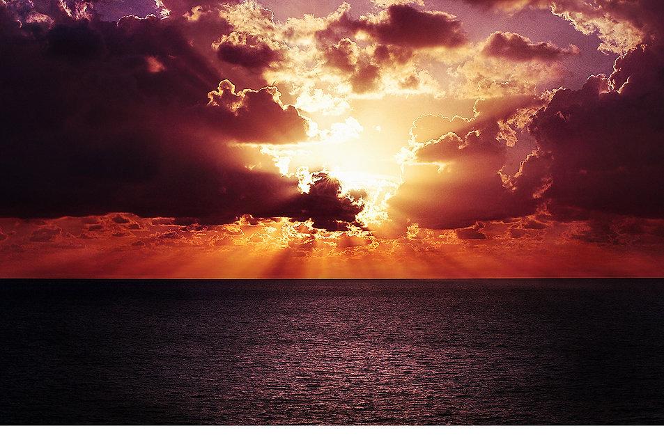 Tropical paradise | Sunset sky overlay & background img_2712006