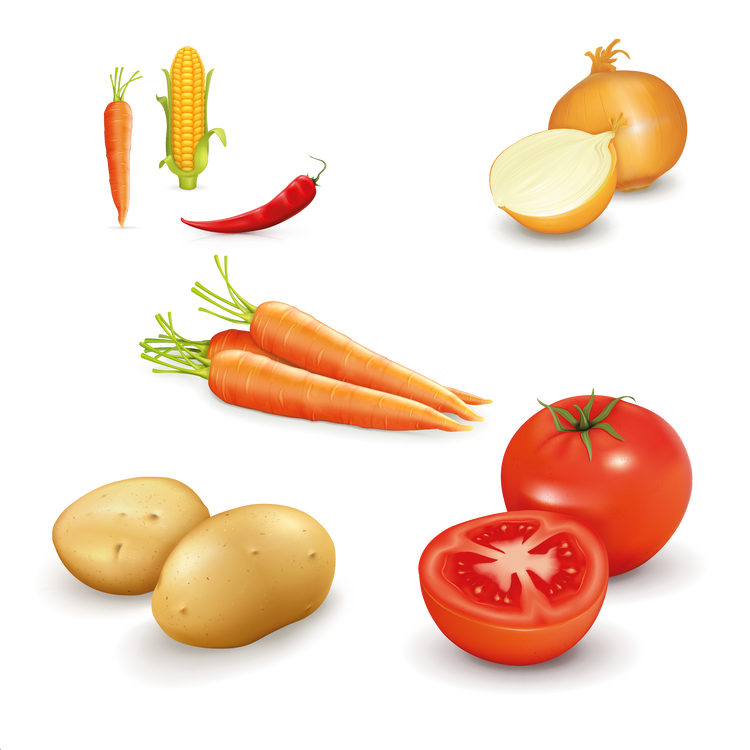 Awesome healthy and fresh fruits & vegetables digital clip art  - Food clipart free download 2400x2400 png