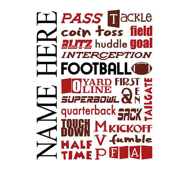 Football subway art  Png | Free Printable Slay & Silly Quotes T- Shirt Design in Png