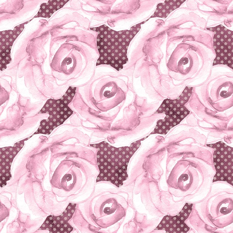 Gorgeous watercolor digital paper with floral design | Scrapbook Digital Paper