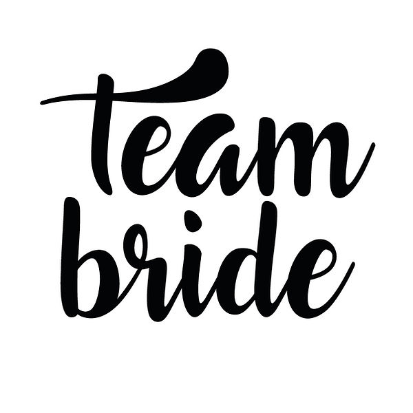Team bride | Free download Printable Funny Quotes T- Shirt Design in Png
