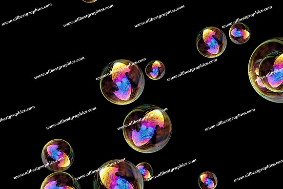 Spring Rainbow Bubble Overlays | Incredible Photo Overlay on Black