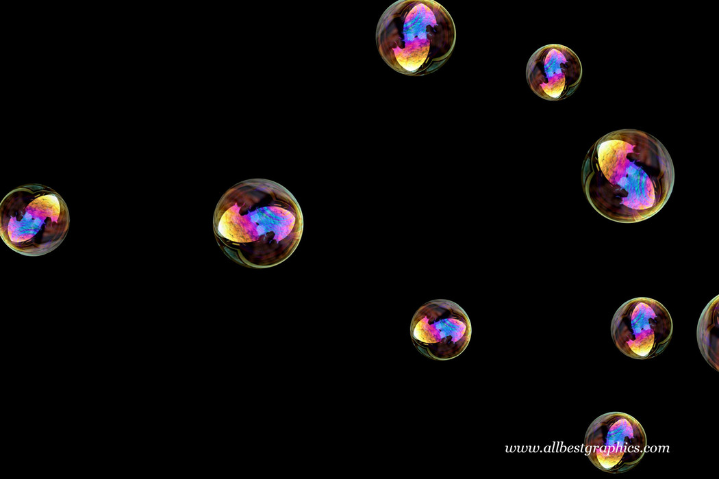 Gorgeous bathroom soap bubbles on black background | Bubble Overlay for Photoshop