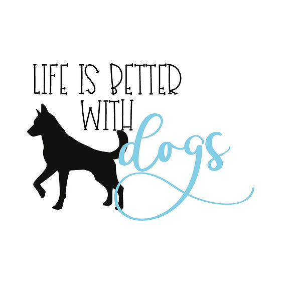 Life is better with dogs Png | Free Iron on Transfer Funny Quotes T- Shirt Design in Png