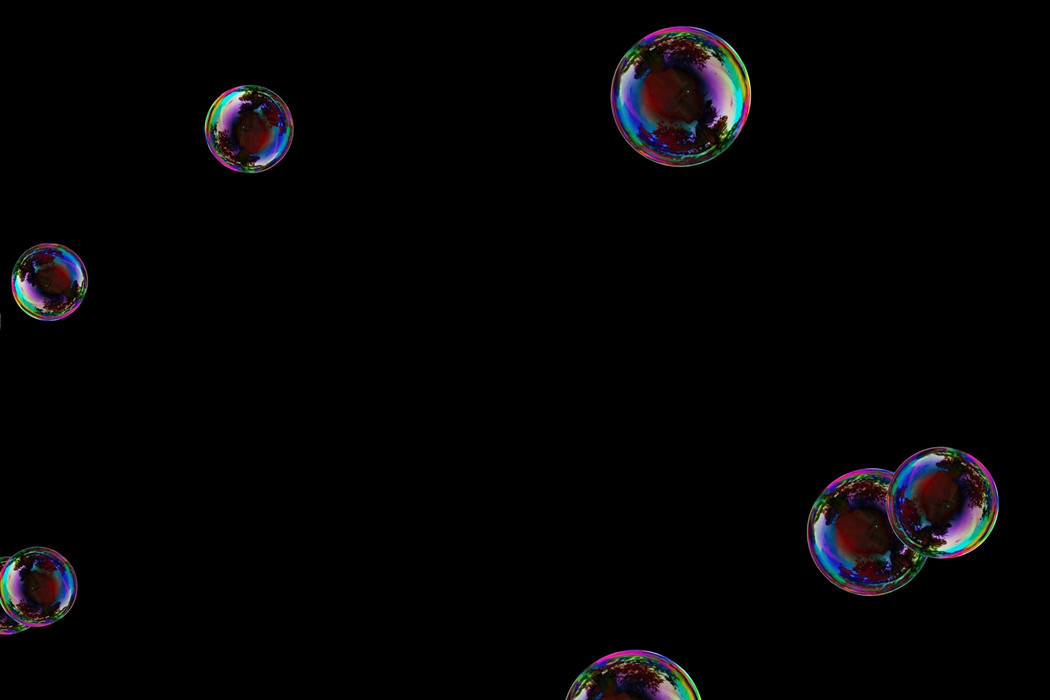 Unbelievable colorful soap bubbles on black background | Overlays for Photoshop