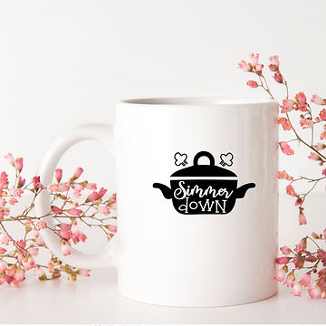 Simmer Down | Brainy Kitchen SignsCut files inSvg Dxf Eps