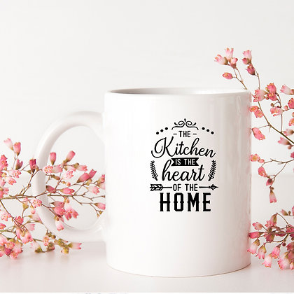 The Kitchen Is the Heart Of The Home   Sassy Kitchen SignsCut files inDxf Svg