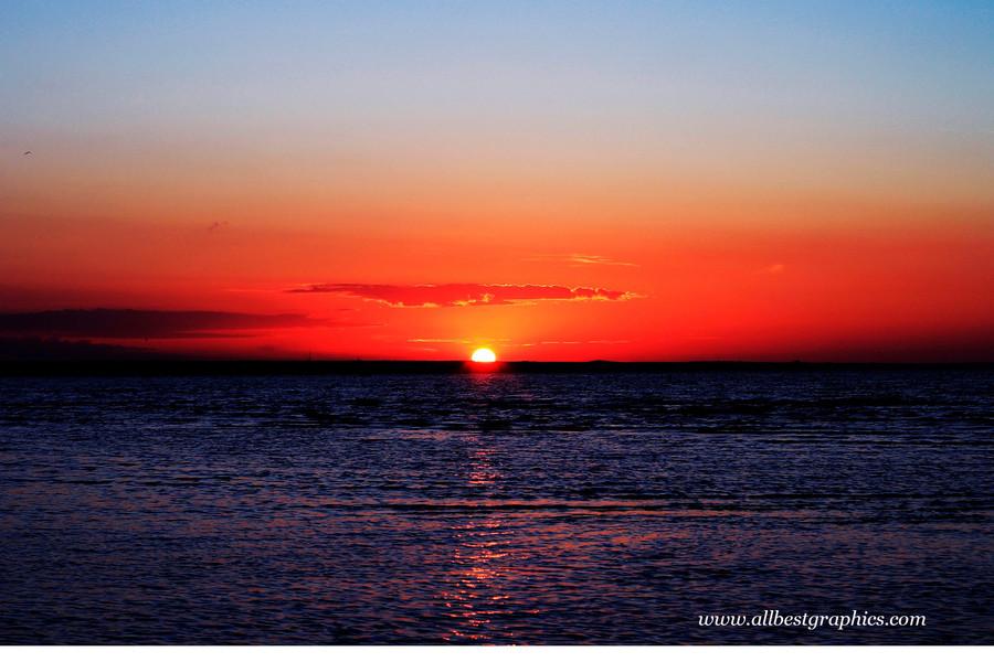 Glamorous clear sunset background   Photo overlays