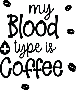 My blood type is coffee vol.2 | Coffee mug Funny Quotes Svg Eps Dxf Png