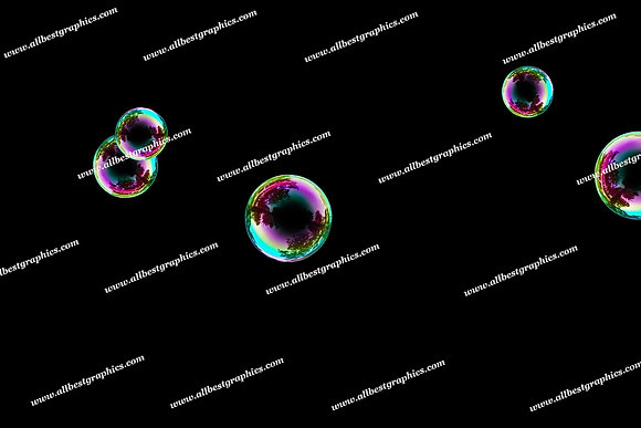 Dreamy Baby Bubble Overlays | Stunning Photoshop Overlays on Black