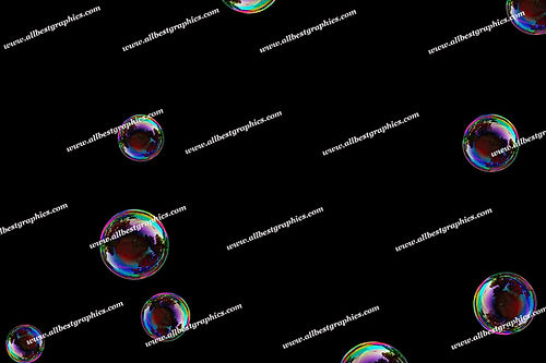 Dreamy Air Bubble Overlays | Professional Photo Overlay on Black