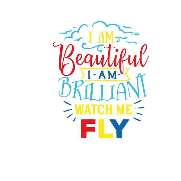 I am beautiful i am brilliant   color Png | Free download Printable Sassy Quotes T- Shirt Design in Png