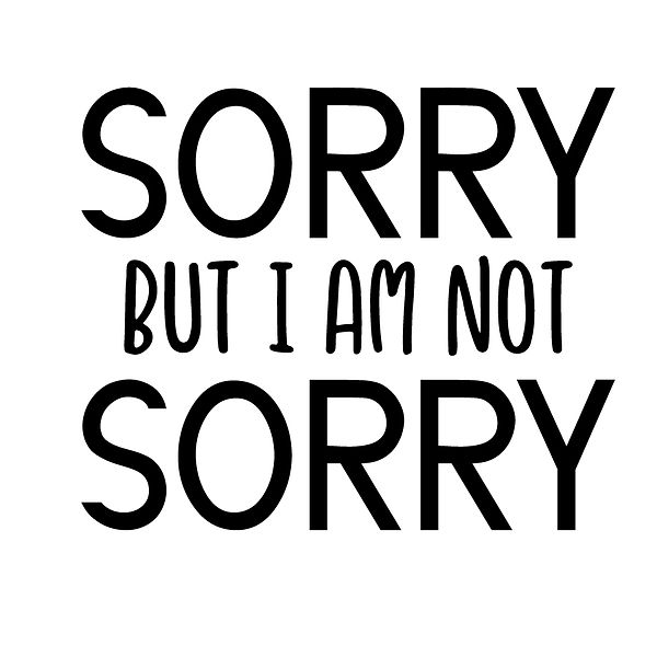 Sorry but i am not sorry   Free Iron on Transfer Slay & Silly Quotes T- Shirt Design in Png