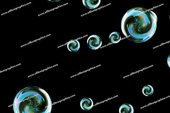 Spring Bathroom Bubble Overlays | Stunning Photoshop Overlays on Black