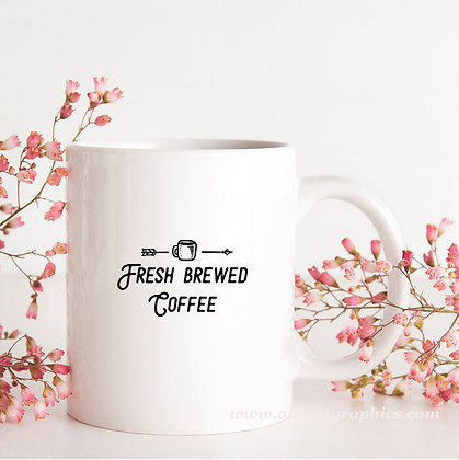 Fresh Brewed Coffee | Best Coffee QuotesCut files inEps Svg Dxf