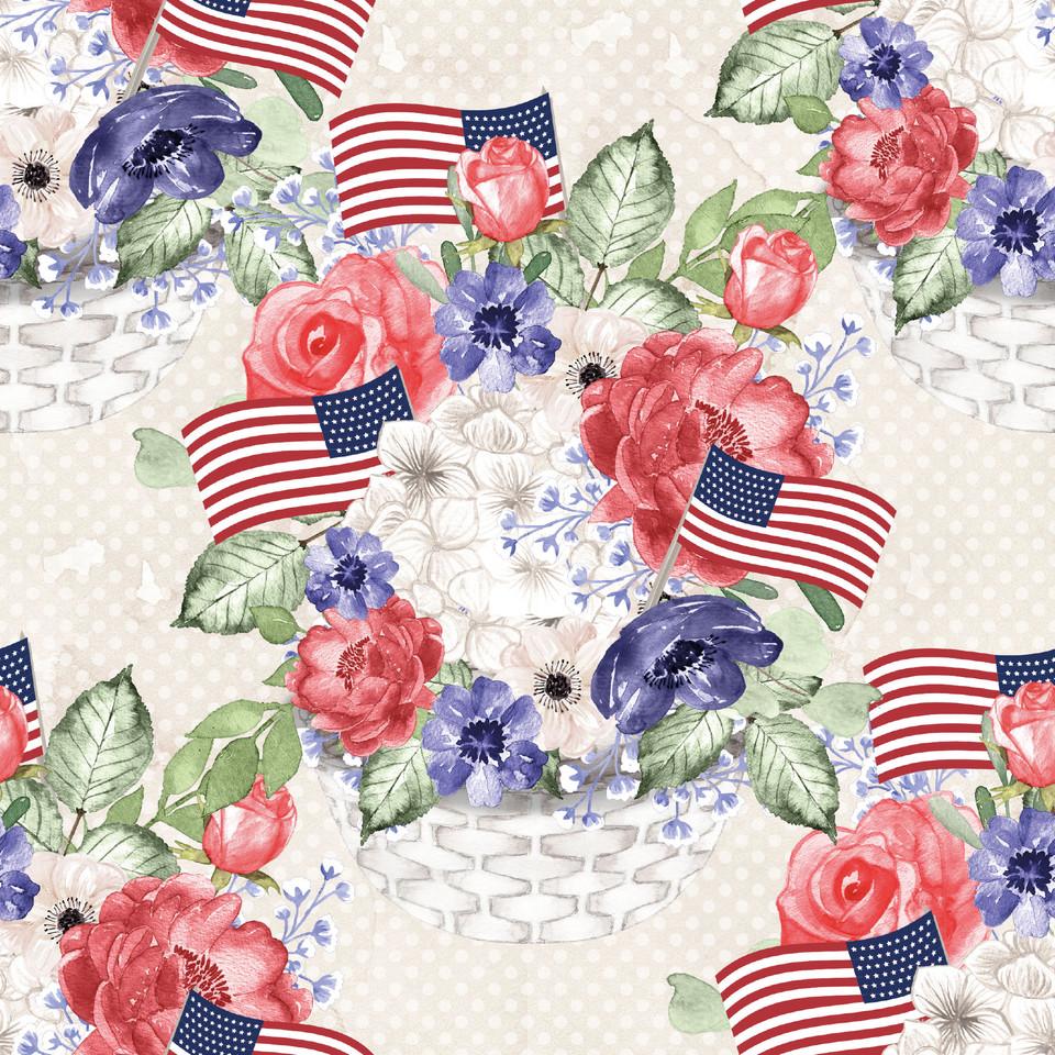 Luxury USA Patriotic background   Scrapbook Digital Paper