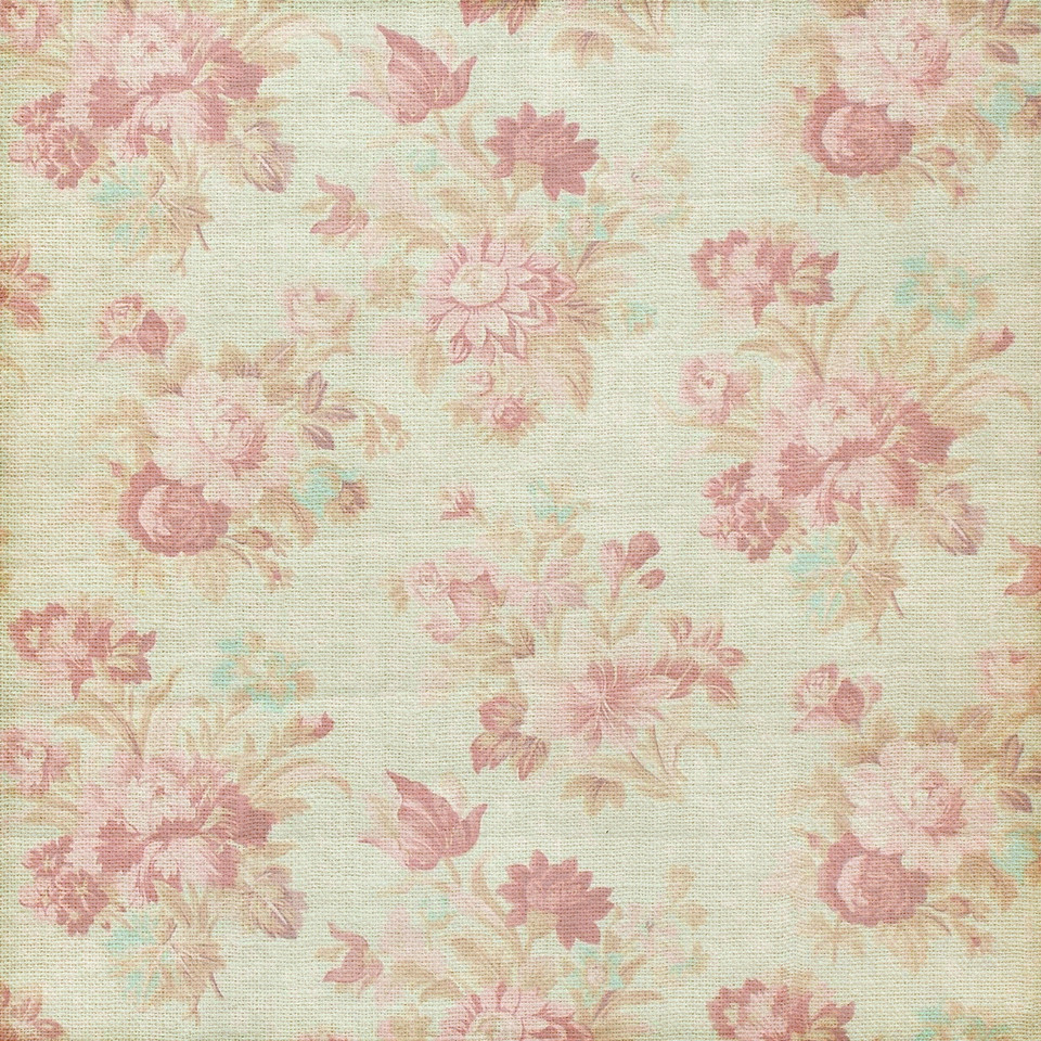 Shabby chic floral digital paper with roses | Wrapping Digital Paper