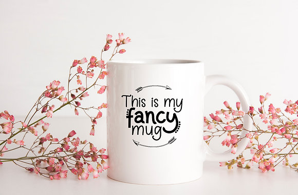 This is my fancy mug | Hand-lettered funny quotes about coffee