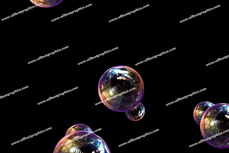 Awesome Colorful Bubble Overlays   Incredible Photo Overlays on Black