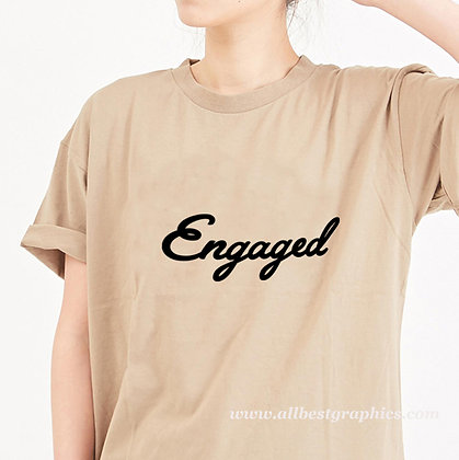 Engaged | Cool T-Shirt QuotesCut files inDxf Eps Svg