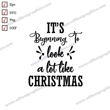 It's Beginning to Look Christmas   Funny Quotes Hand-Lettering Christmas Design