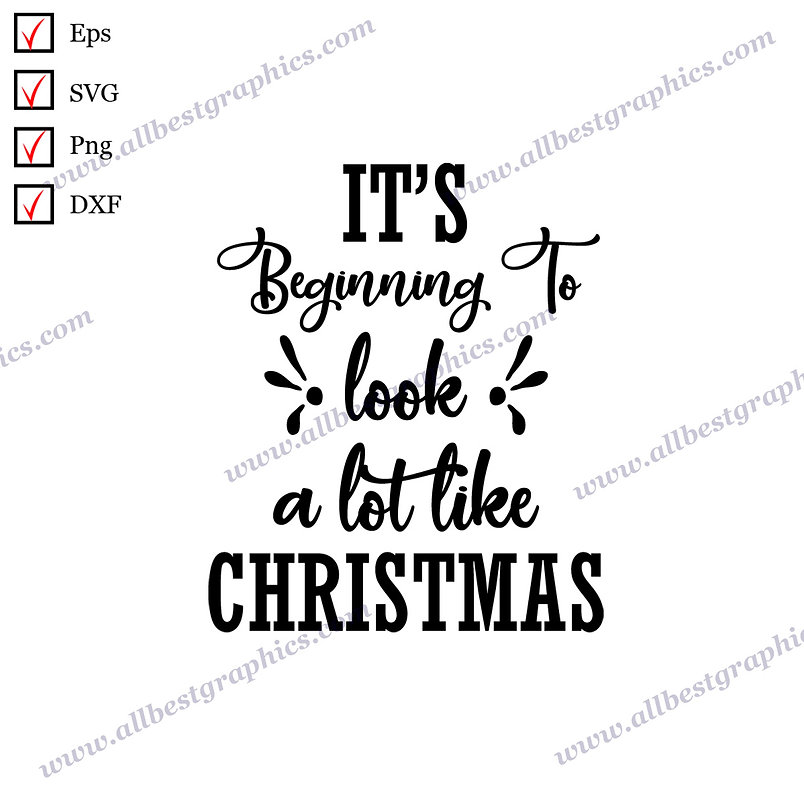 It's Beginning to Look Christmas | Funny Quotes Hand-Lettering Christmas Design