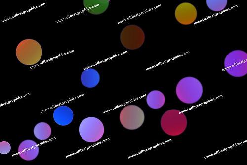Fine City Lights Bokeh Texture | Elegant Photo Overlays on Black
