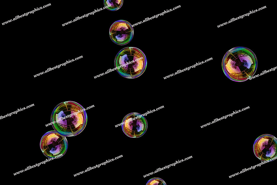 Whimsical Air Bubble Overlays   Fantastic Overlays for Photoshop on Black