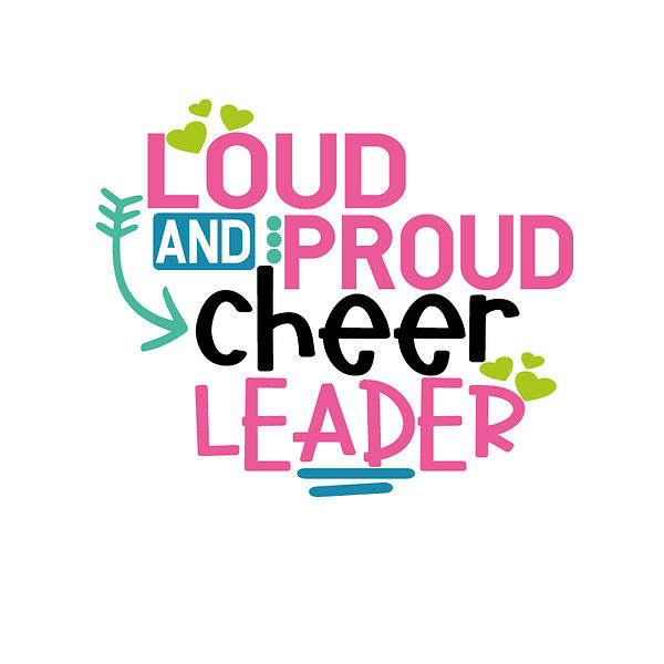 Loud and proud cheer leader Png | Free Printable Slay & Silly Quotes T- Shirt Design in Png