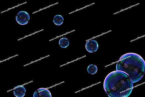 Summer Blowing Bubble Overlays | Professional Photoshop Overlays on Black