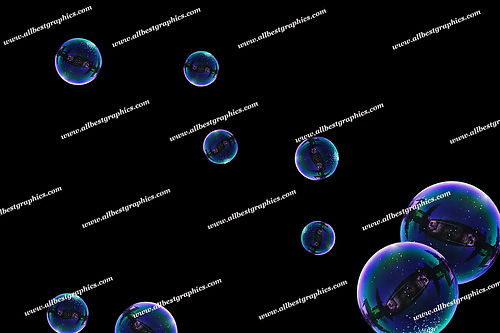 Summer Blowing Bubble Overlays   Professional Photoshop Overlays on Black
