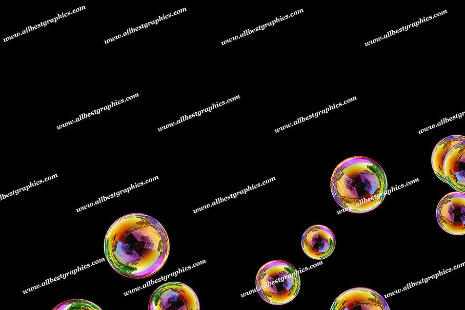 Summer Rainbow Bubble Overlays | Stunning Photoshop Overlay on Black