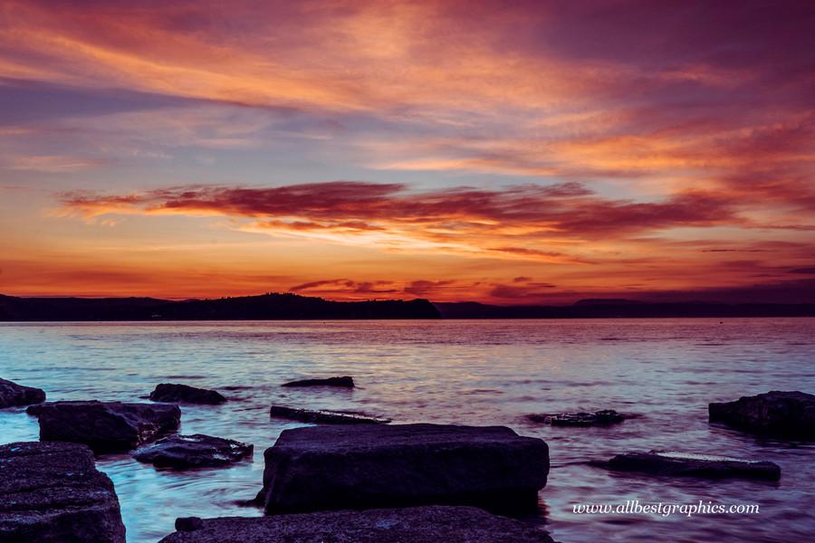 Delightful twilight sunset sky   Photoshop overlays