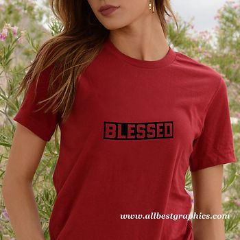 Blessed   Best T-Shirt QuotesCut files inDxf Eps Svg