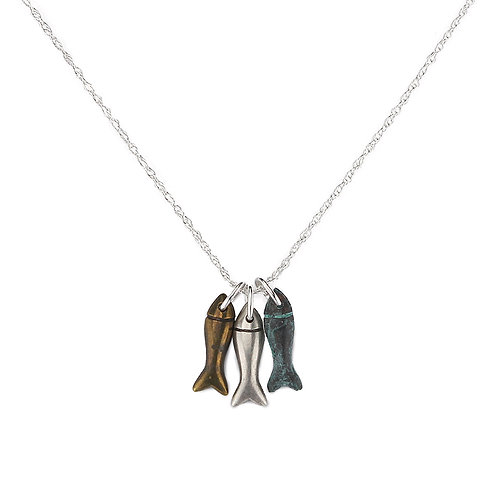 Dinky Fish Necklace on Sterling Silver Chain