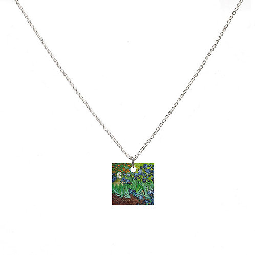 Van Gogh Necklace - Irises - Square
