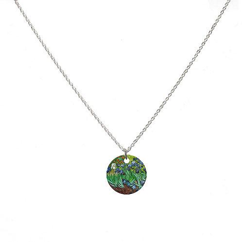 Van Gogh Necklace - Irises - Round