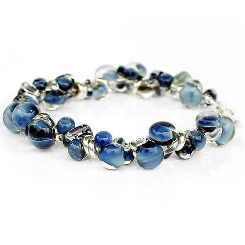 Ocean Blue Glass Bracelet