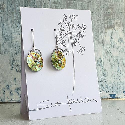 Sue Fenlon 'April Showers' Round Dangly Earrings