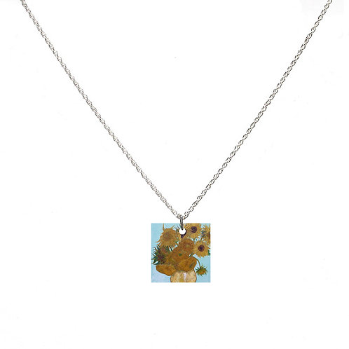 Van Gogh Necklace - Sunflowers - Square