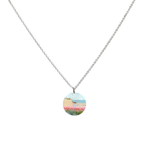Sue Fenlon 'Poppies and Seagulls' Necklace - Round