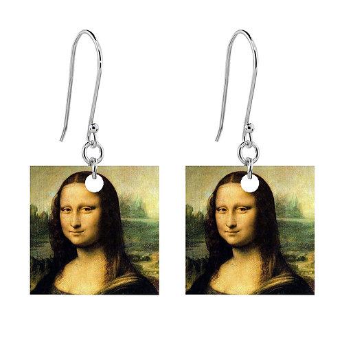 Leonardo da Vinci - Mona Lisa Earrings - Short Square
