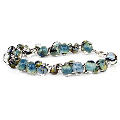 Ocean Green Glass Bracelet