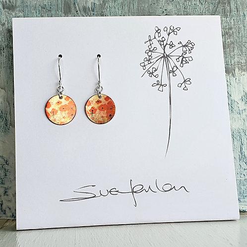 Sue Fenlon 'Poppies' Earrings - Round