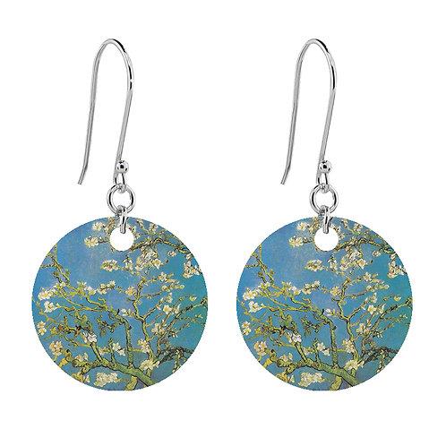 Van Gogh Earrings - Almond Blossom - Short Round