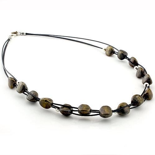 Pebble Necklace - Bronze Finish