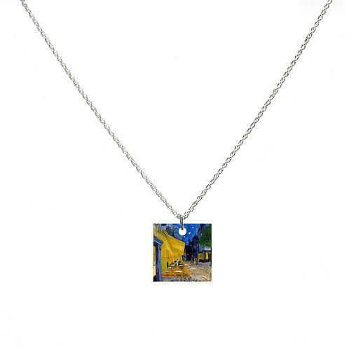 Van Gogh Necklace - Cafe Terrace at Night - Square