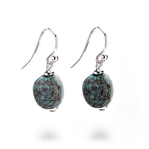 Pebble Earrings - Copper Finish