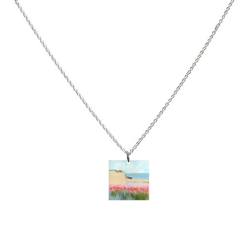 Sue Fenlon 'Poppies and Seagulls' Necklace - Square