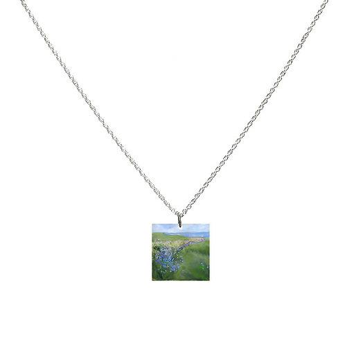 Sue Fenlon 'Cornflowers' Necklace - Square